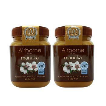 紐西蘭【Airborne艾爾邦】麥蘆卡蜂蜜 250克 花粉含量70+(2入)