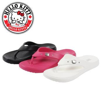 【HELLO KITTY】凱蒂貓輕量防水夾腳拖鞋