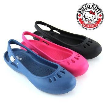 【HELLO KITTY】凱蒂貓防水涼鞋-桃紅色、藍色、黑色