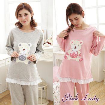 【PINK LADY】寬鬆居家舒適棉柔長袖成套睡衣褲6055 (2件組)