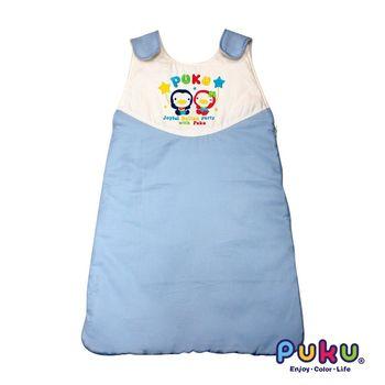 PUKU藍色企鵝 背心防踢睡袋F-水色