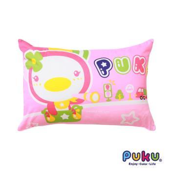 PUKU藍色企鵝 PUKU大童枕65*45cm-粉色