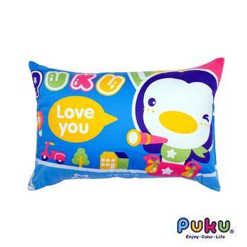 PUKU藍色企鵝 PUKU大童枕65*45cm-水色