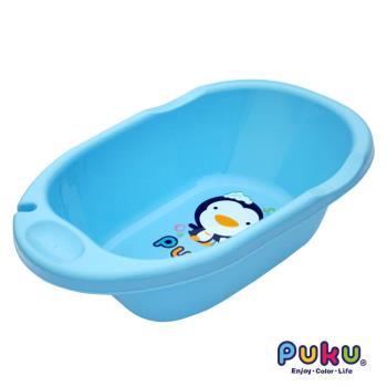 PUKU藍色企鵝 卡哇伊浴盆L-藍色
