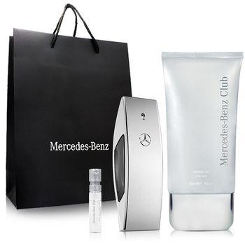 Mercedes Benz 賓士銀色風潮男性淡香水(100ml)-送品牌沐浴精&針管&紙袋