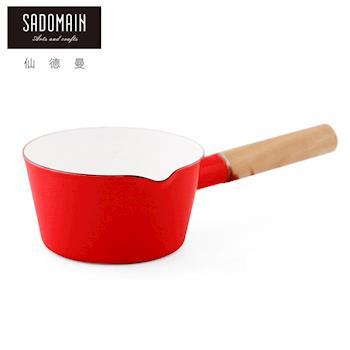 【仙德曼 SADOMAIN】琺瑯單柄牛奶鍋-紅色