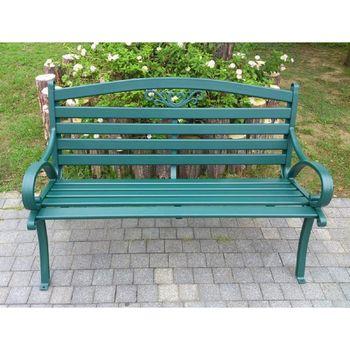 BROTHER兄弟牌~雅典鋁合金雙人公園椅-綠色