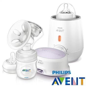 PHILIPS AVENT  輕乳感PP標準型單邊電動吸乳器+快速食品加熱器
