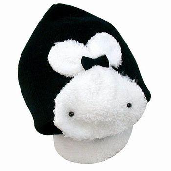 【iSFun】可愛白兔*兒童毛線帽/黑