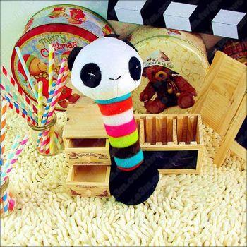 Petcircle《熊貓啞鈴布偶玩具》雙頭都會啾啾叫