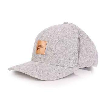 【NIKE】GOLF 運動帽 -高爾夫球 帽子 鴨舌帽 防曬 灰咖啡