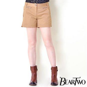 beartwo 立體星星裝飾造型短褲 (共二色)