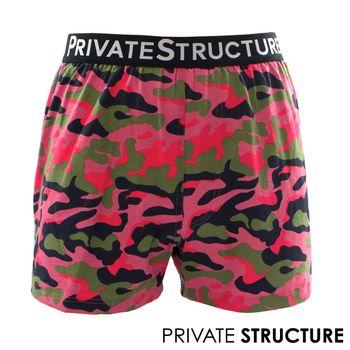 【P.S】狂想系列-粉色迷彩生存遊戲四角男平口褲, Private Structure