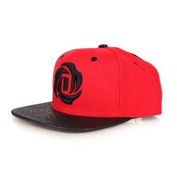 【ADIDAS】DROSE 5.0 SNAP運動休閒帽-帽子 街舞 愛迪達 防曬 紅黑