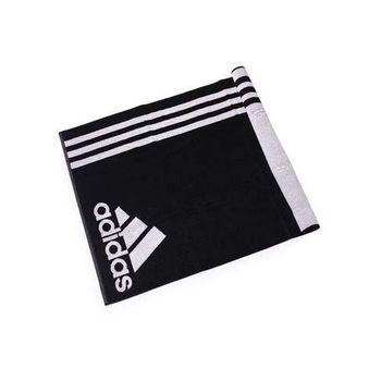 【ADIDAS】運動毛巾-慢跑 路跑 游泳 浴巾 愛迪達 黑白