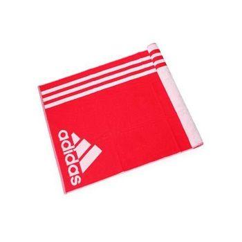 【ADIDAS】運動毛巾-慢跑 路跑 游泳 浴巾 愛迪達 紅白