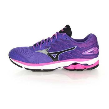 【MIZUNO】WAVE RIDER 20 女慢跑鞋- 路跑 美津濃 紫粉紅