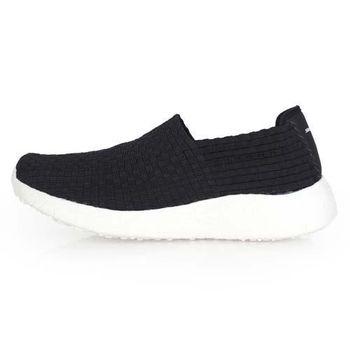 【SKECHERS】BURST-REVIVAL 男休閒鞋- 懶人鞋 走路鞋 黑白