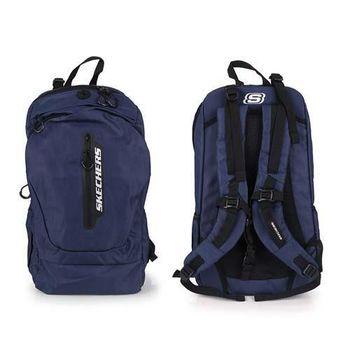 【SKECHERS】後背包 - 雙肩包 肩背包 旅行包 丈青銀