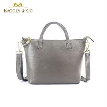【BAGGLYCO】素雅品味真皮側背包(三色)