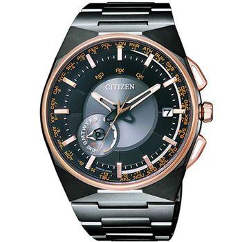 CITIZEN 星辰 Eco-Drive 光動能衛星對時宇宙環繞時尚腕錶-45mm/CC2004-59E