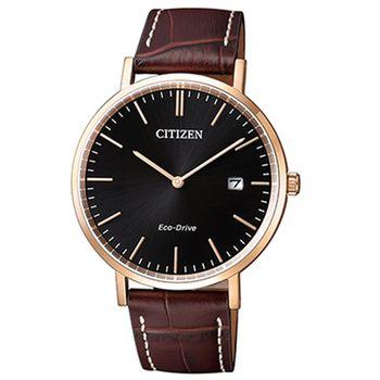 【CITIZEN 星辰】時尚大三針光動能皮帶腕錶(40mm/AU1083-13H)