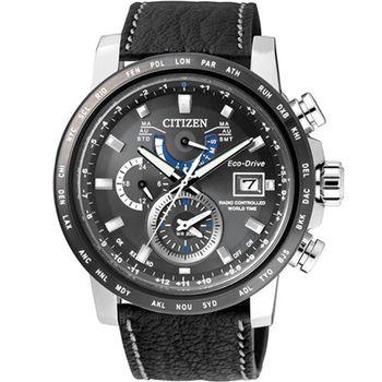 CITIZEN 星辰 商務奢華時尚光動能電波腕錶/43mm/AT9071-07E
