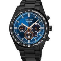 SEIKO Criteria 極速風暴太陽能計時碼錶 ^#45 藍x黑 ^#47 42mm