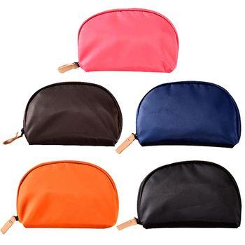 輕巧半圓形貝殼包多層次大容量魔術收納化妝包/旅行包(2入)