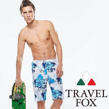【TRAVELFOX 旅狐】 南洋風大男寬口泳褲(C14919)