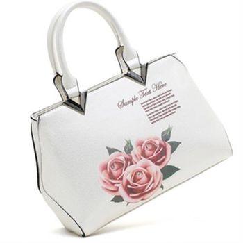 【YLEM】玫瑰印壓金屬方包