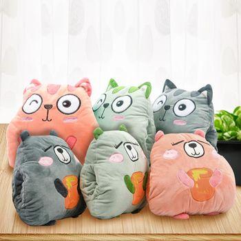 【巴芙洛】可愛暖手抱枕靠墊-6款樣式可選