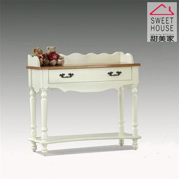 【甜美家】鄉村風全實木細緻3尺白色書桌