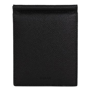 BALLY  皮革雙折鈔票卡夾(黑內紅)