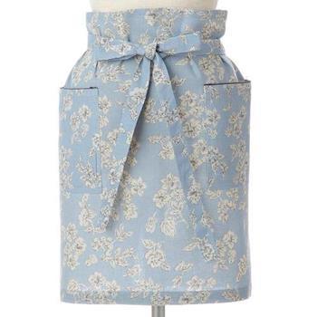 BERGAMOT 碎花半身圍裙 藍