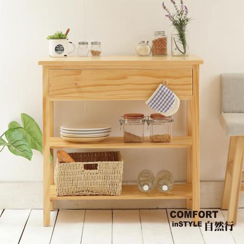 CiS自然行實木家具 電器櫃-碗盤櫃-雜貨櫃-置物櫃W80cm(扁柏自然色)