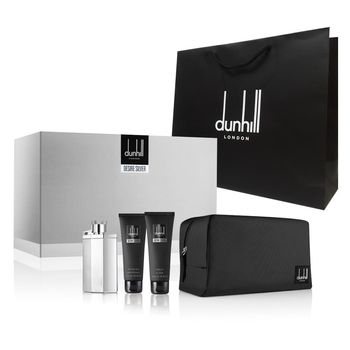 Dunhill 登喜路銀光男性淡香水男仕禮盒100ml(4件組)+紙袋