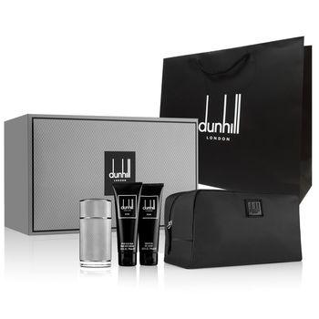 Dunhill ICON 經典男性淡香精男仕禮盒100ml(3件組)+隨機紙袋