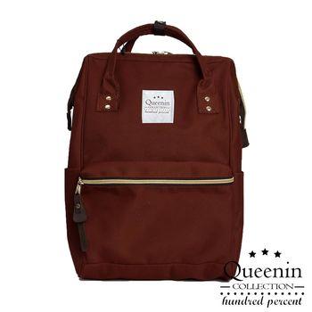 DF Queenin日韓 - 日系百搭熱門款大容量寬口後背包-共3色