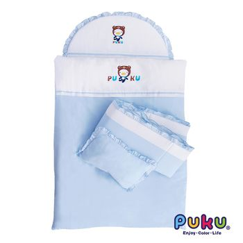 PUKU藍色企鵝 PUKU七件式寢具組-L 水色