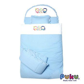 PUKU藍色企鵝 點點七件式寢具組-L 水色