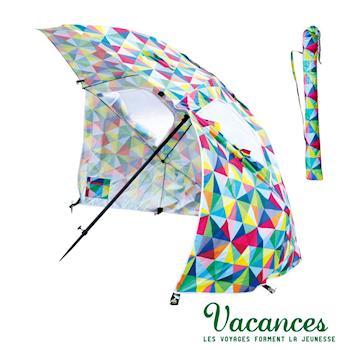 【VACANCES】戶外 活動式 多彩稜鏡 兩用型 摺疊 抗UV 遮陽傘