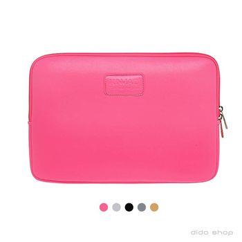 【dido shop】筆電包 11吋 純色系列皮革筆電避震袋(KC005)