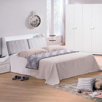 【時尚屋】[G17]漢娜烤白5尺床箱型雙人床G17-A027-1+A017-2不含床頭櫃-床墊