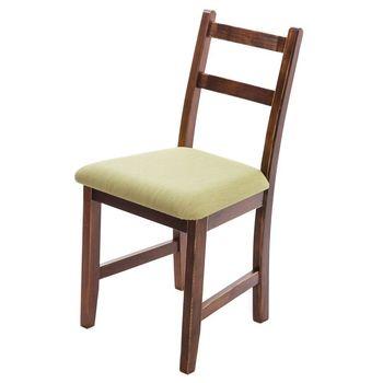 CiS自然行實木家具- Reykjavik北歐木作椅(焦糖色)抹茶綠椅墊