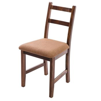 CiS自然行實木家具- Reykjavik北歐木作椅(焦糖色)深咖啡椅墊