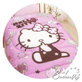 【HELLO KITTY】 凱蒂貓 法蘭絨暖暖被 時尚寶盒-粉