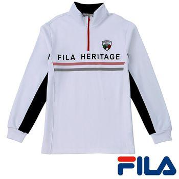 FILA男仕立領義式風情上衣(純淨白)1TEP-5405-WT