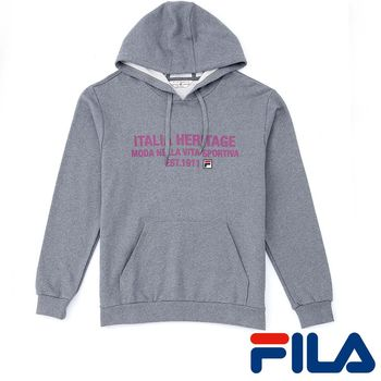 FILA男仕連帽活力感上衣(簡約灰)1TEP-5404-RG