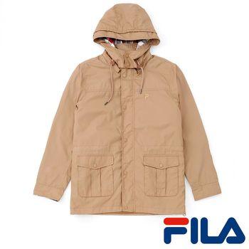 FILA男仕鋪棉風衣外套(卡其駝)1JKP-5708-KK